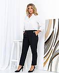 Женские штаны батал, креп - костюмка, р-р 50; 52; 54; 56 (чёрный), фото 3