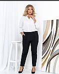Женские штаны батал, креп - костюмка, р-р 50; 52; 54; 56 (чёрный), фото 2