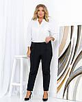 Женские штаны батал, креп - костюмка, р-р 50; 52; 54; 56 (чёрный), фото 4