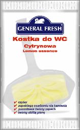 Туалетный Блок Для Унитаза Лимонный Ароматизированный Полиэтилен General Fresh Дженерал Фреш 35 г
