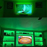 Стрічка зелена 14,4W/м в 60LED/м IP20 світлодіодна МТК-300G5050-12 №1, фото 4