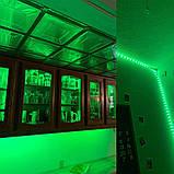 Стрічка зелена 14,4W/м в 60LED/м IP20 світлодіодна МТК-300G5050-12 №1, фото 3