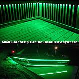 Стрічка зелена 14,4W/м в 60LED/м IP20 світлодіодна МТК-300G5050-12 №1, фото 5