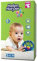 Подгузники Дышащие Для Детей Helen Harper Хелен Харпен Soft & Dry джамбо midi  №3 (4-9 кг) 56 шт