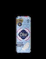 Гигиенические Прокладки Для Критических Дней Мягкая Поверхность Ола Ola Wings Super 10 шт+2 шт Подарок 6 Кап