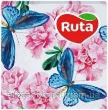 Салфетки Столовые Бумажные Сервировочные Под Тарелки И Приборы Рута Ruta 20л Art 33 * 33 см Флора