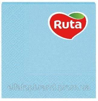 Салфетки Столовые Бумажные Сервировочные Под Тарелки И Приборы Рута Ruta 20л Колор 33 * 33 см Голубые