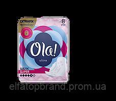 Гигиенические Прокладки Ультратонкие Для Обильных Выделений С Шелковистой Поверхностью Ола Ola 8 шт 5 Капель