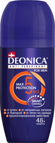 "Дез DEONICA FOR MEN антиперспирант ""5Protection"" 50мл (ролик)"