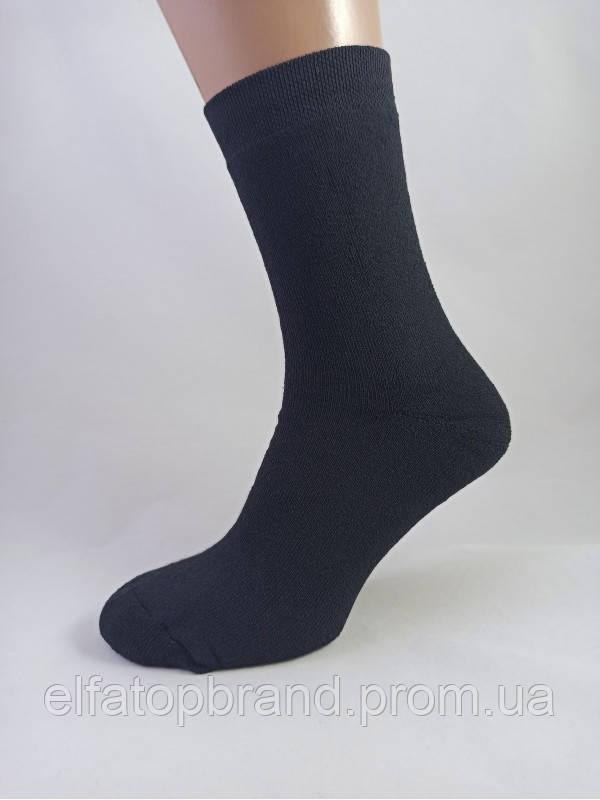 Шкарпетки 100-1М 29 р.махрові чоловічі чорні