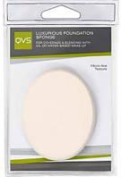 Акс.QVS 10-1071 Спонж для нанесення основи макіяжу будь-якого типу (кремоподібної та водної), овал.