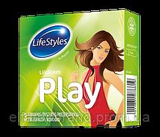 Презервативи Латексні LifeStyles PLAY 3 шт