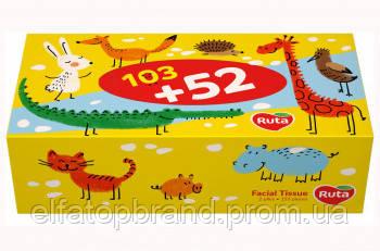 АКЦІЯ Серветки Косметичні Універсальні Дитячі 2 Шари Рута Ruta Ruta Kids Пенал 103 л + 52 л