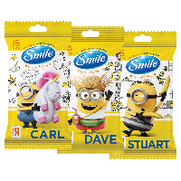 "Серветка волога SMILE ""Minions""MIX limited edition 15 шт."