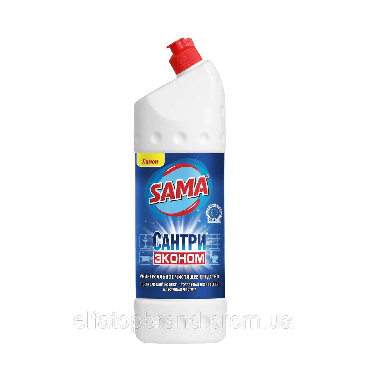 Универсальное Чистящее Средство От Бактерий Плесени Сантри Эконом Лимон САМА1000мл