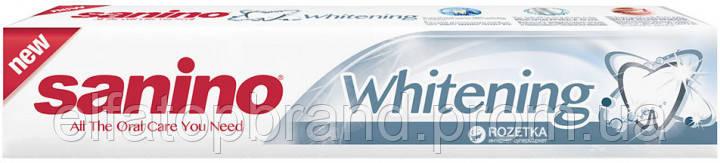 Зубная Паста Отбеливающая Белоснежная Улыбка Whitening Sanino Санино 100 мл