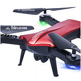 Складной квадрокоптер с камерой HD 720P и WIFI Lishitoys L6060W Red, фото 2