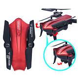 Складной квадрокоптер с камерой HD 720P и WIFI Lishitoys L6060W Red, фото 6