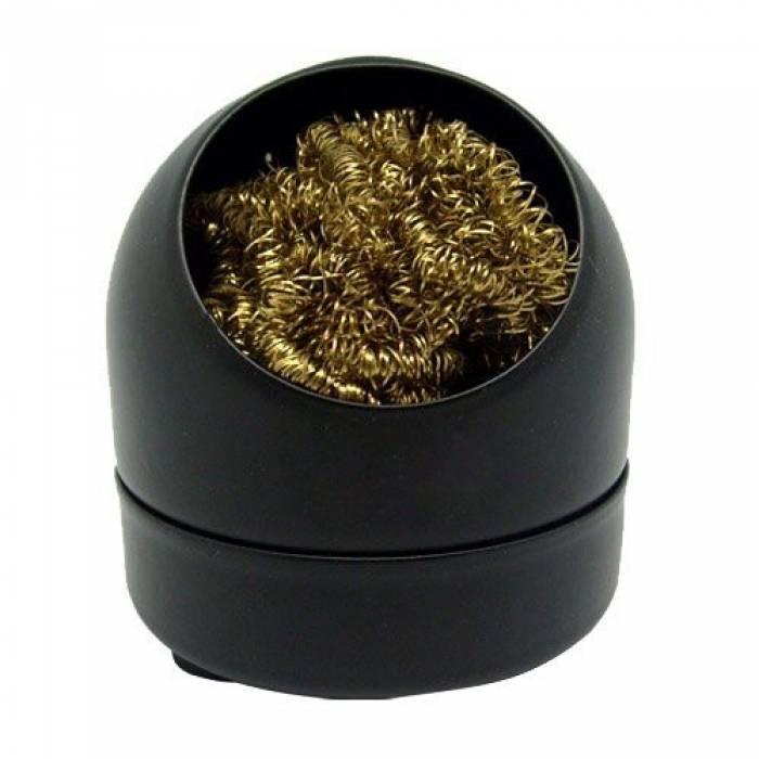 Губка металлическая в корпусе для очистки жала паяльника