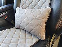 Автомобильные подушки, серый цвет.