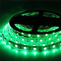 Стрічка зелена 14,4W/м в 60LED/м IP20 світлодіодна МТК-300G5050-12 №1