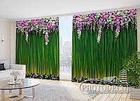 """Фото Штори в зал """"Ламбрекен з квітів"""""""