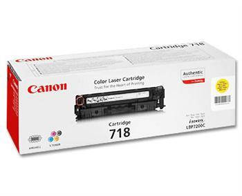 Картридж Canon 718 LBP-7200/7210/7660/7680/8330/ 8340/8350/8360/8380/8540/8550/8580 Yellow, фото 2
