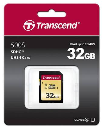 Картка пам'яті Transcend 32GB SDHC C10 UHS-I  R95/W60MB/s, фото 2