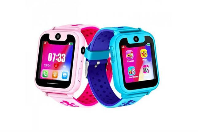 Дитячий GPS годинник-телефон GOGPS ME K21 Рожеві, фото 2