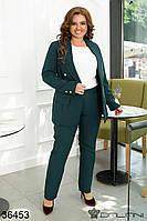 Брючний жіночий костюм-тройка, фото 1