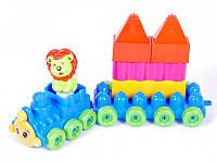"""Игрушка-конструктор для малышей """"Поезд 1"""" с прицепом 02-409 Kinderway"""