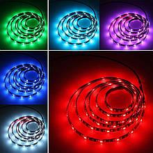 Лента RGB с регулировкой цвета 14,4W/м БЕЗ КОМПЛЕКТУЮЩИХ 60LED/м IP20 светодиодная МТК-300RGB5050-12 №1