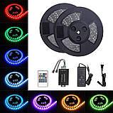 Лента RGB с регулировкой цвета 14,4W/м БЕЗ КОМПЛЕКТУЮЩИХ 60LED/м IP20 светодиодная МТК-300RGB5050-12 №1, фото 2