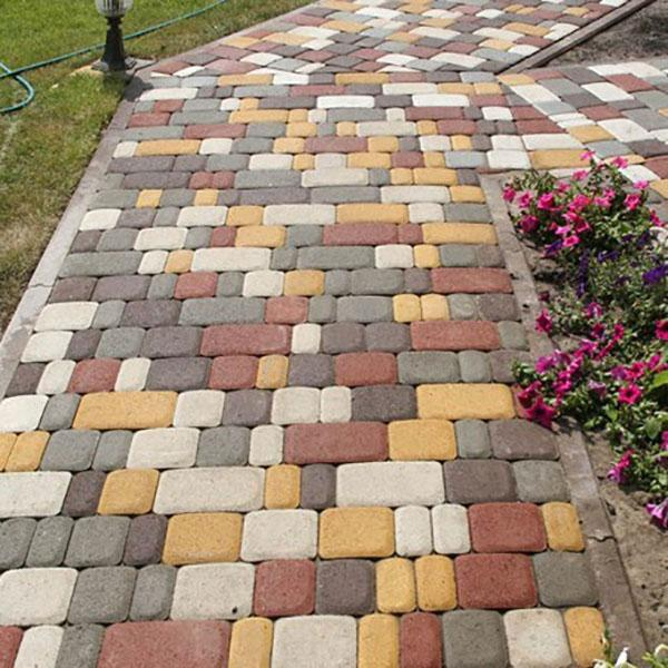 Тротуарная плитка Старый город колормикс 80 мм (189 кг / м²)