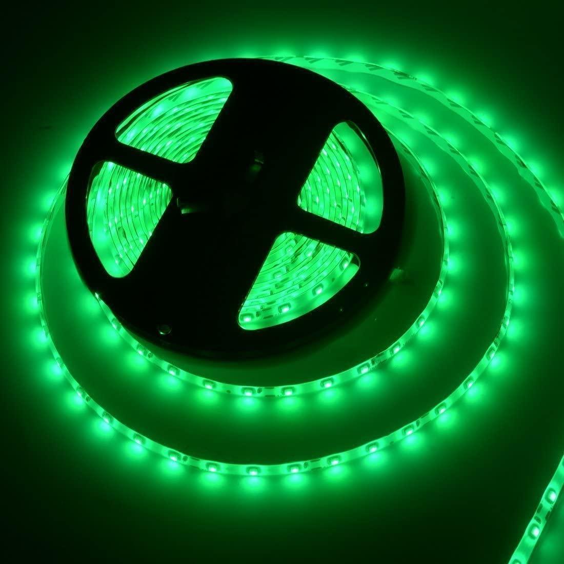 Стрічка зелена 14,4W/м вологозихищена 60LED/м IP65 світлодіодна МТК-300GF5050-12 №1