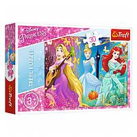 """Пазл """"Зачарована мелодія"""", 30 елементів Trefl Disney Princess (5900511182347)"""