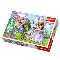 """Пазл """"Приключения Принцессы Софии"""", 60 элементов Trefl Disney Sofia the First (5900511173130)"""