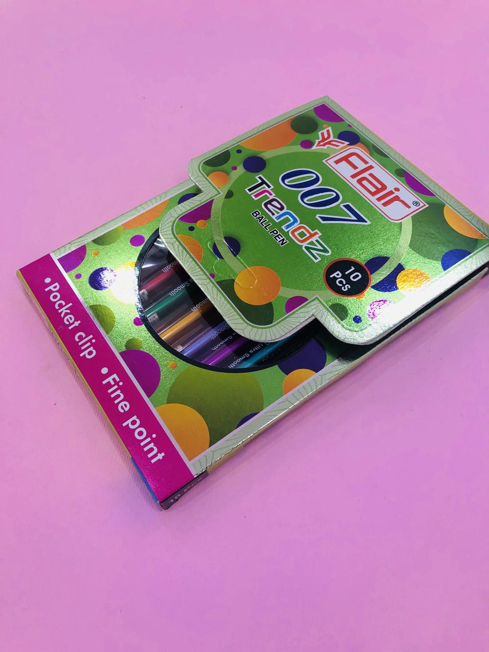 Набір кольорових ручок Flair 007, 10 шт