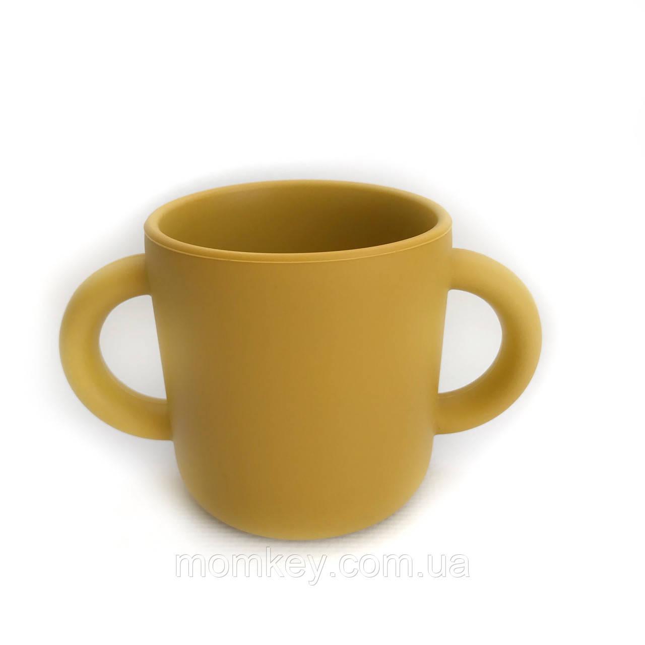 Чашка с двумя ручками (горчичный)