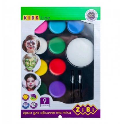 Фарба д/гриму та тіла Zibi 6570 на 9 кольори КРЕАТИВ стандарт 105г (1/12), фото 2