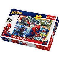 """Пазл """"Хоробрий Спайдермен"""", 60 елементів Trefl Marvel Spiderman (5900511173116)"""