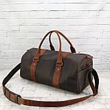 Дорожная сумка tube 2 коричневая из натуральной кожи crazy horse, фото 2
