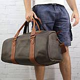 Дорожная сумка tube 2 коричневая из натуральной кожи crazy horse, фото 5