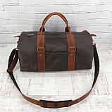Дорожная сумка tube 2 коричневая из натуральной кожи crazy horse, фото 6