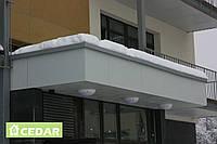 Фиброцементные плиты для балконов и входных групп