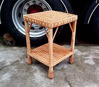 Плетеный журнальный столик из ивы