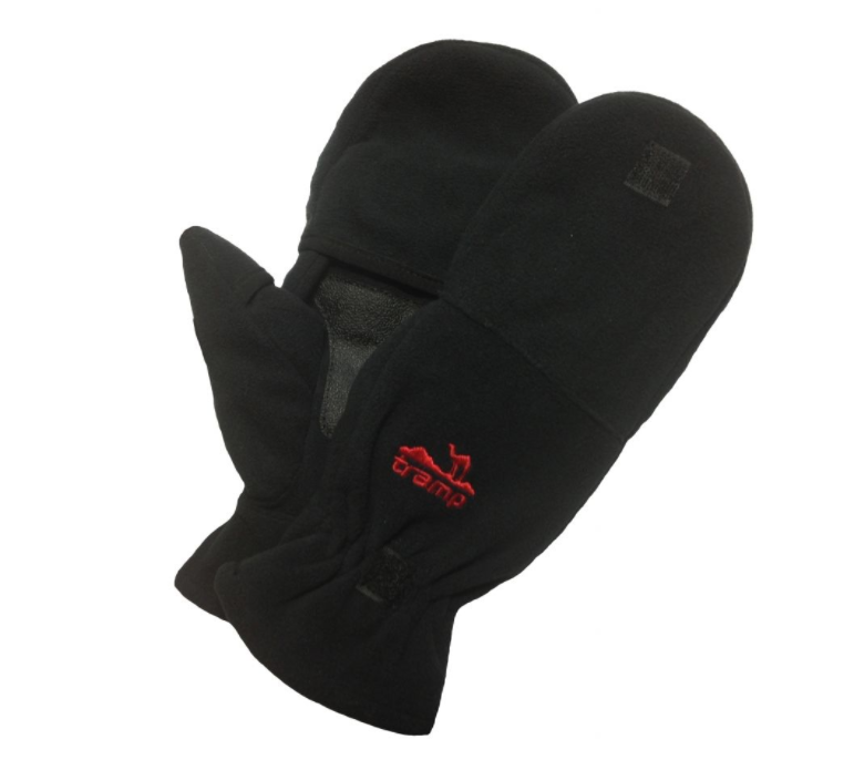Двойные варежки-перчатки Tramp Fleece TRCA-006-S/M Black