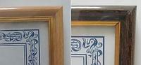 Фото рамка багет (21x30см) золотая рамка, настенная, цвета в ассортименте