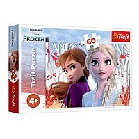 """Пазл """"Холодное сердце-2. Заколдованный мир Анны и Эльзы"""", 60 элементов Trefl Disney Frozen 2 (5900511173338)"""