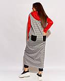 Женский брючный костюм двойка штаны и туника удлиненная сзади размер: 52, 54, 56 РАСПРОДАЖА!, фото 5